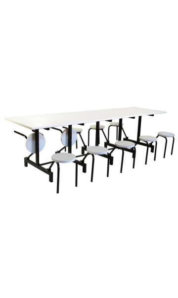 Mesa refeitório com assentos escamoteáveis ME 6010