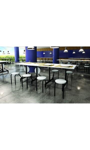 Mesa refeitório com assentos escamoteáveis  ME 6008